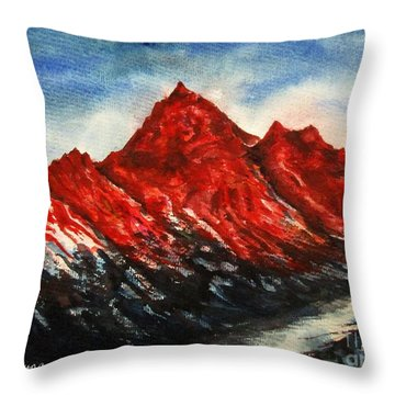Mountain-7 Throw Pillow