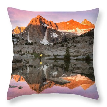 Mountain Air  Throw Pillow by Nicki Frates