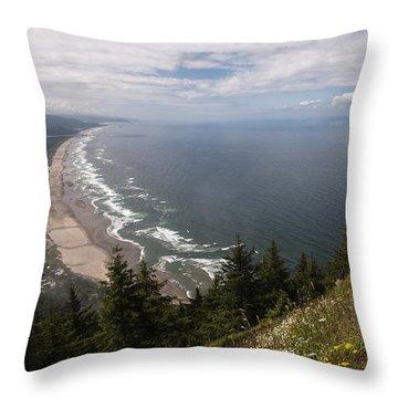 Mountain And Beach Throw Pillow