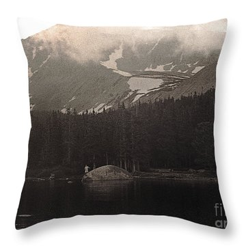 Mountain Anglers Throw Pillow