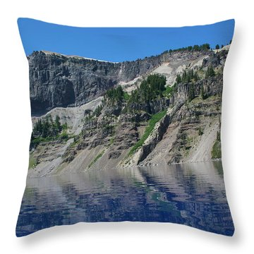 Throw Pillow featuring the photograph Mountain Blue by Laddie Halupa