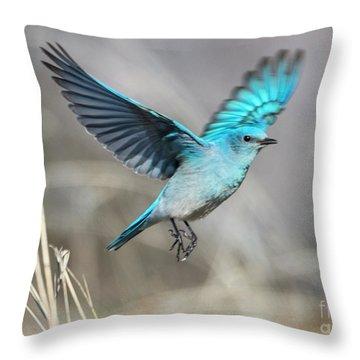 Mountain Blue Throw Pillow