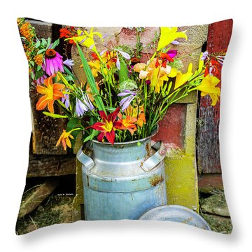 Mountain Bouquet Throw Pillow