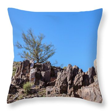 Mountain Bush Throw Pillow
