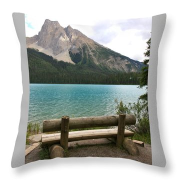 Mountain Calm Throw Pillow
