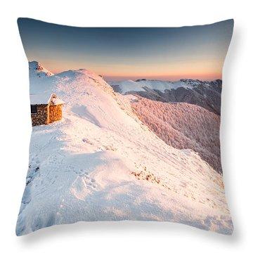 Mountain Chapel Throw Pillow by Evgeni Dinev