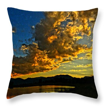 Throw Pillow featuring the photograph Mountain Colour by Eric Dee