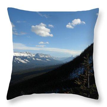 Mountain Corridor Throw Pillow by Greg Hammond