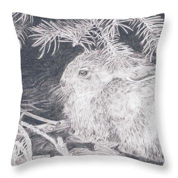 Mountain Cottontail Throw Pillow