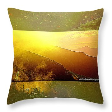 Throw Pillow featuring the photograph Mountain Days by Janice Spivey