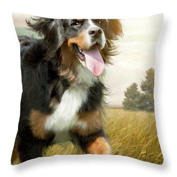 Mountain Dog Throw Pillow