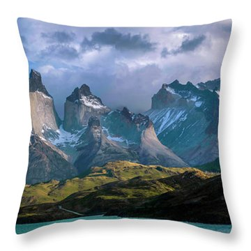 Mountain Dream Throw Pillow by Andrew Matwijec