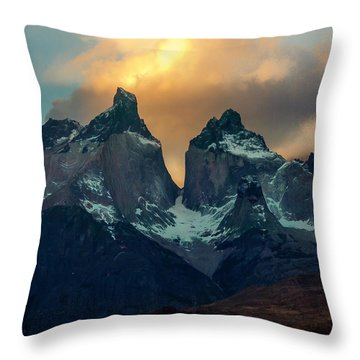Mountain Evening Throw Pillow by Andrew Matwijec