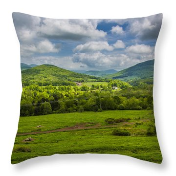 Mountain Field Of Greens Throw Pillow