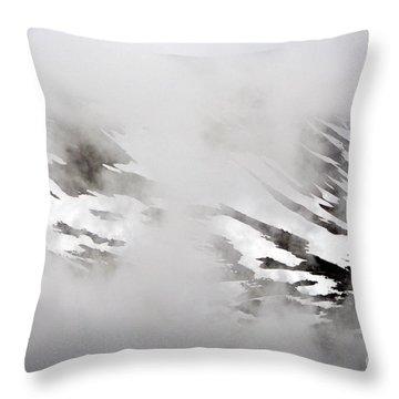 Mountain Fog - Alaska Throw Pillow