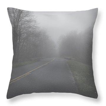 Mountain Fog Throw Pillow by Joseph G Holland