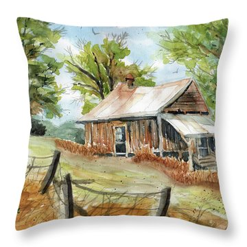 Mountain Get-away Throw Pillow