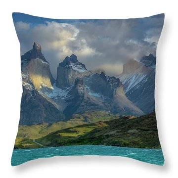 Mountain Glimmer Throw Pillow by Andrew Matwijec