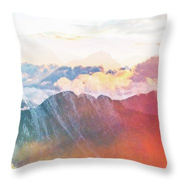 Mountain Glory Throw Pillow