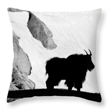 Mountain Goat Shadow Throw Pillow