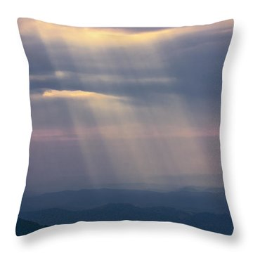 Mountain God Rays Throw Pillow