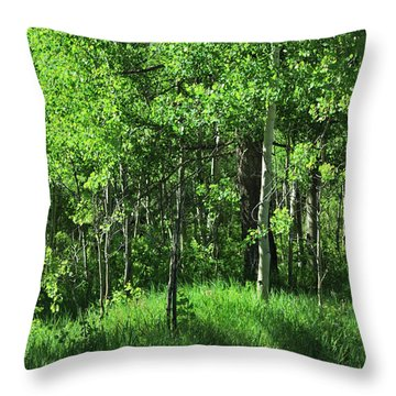 Mountain Greenery Throw Pillow