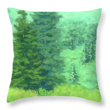 Mountain Greens Throw Pillow