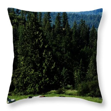Mountain Herd Throw Pillow