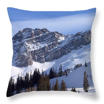 Mountain High - Salt Lake Ut Throw Pillow by Christine Till