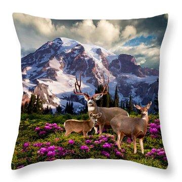 Mountain High Meadow Throw Pillow
