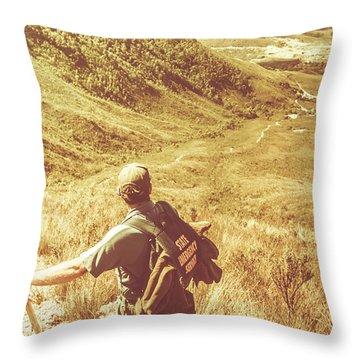 Mountain Hiking Australia Throw Pillow