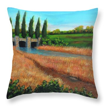 Mountain House In The Fall Throw Pillow