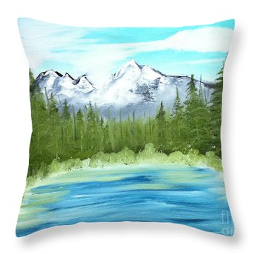 Mountain Imagining Throw Pillow