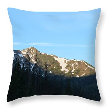 Mountain In Rocky Mountian Np Co Throw Pillow