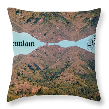 Throw Pillow featuring the photograph Mountain Kiss  by Ben Upham III