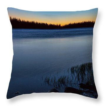 Throw Pillow featuring the photograph Mountain Lake Glow by James BO Insogna