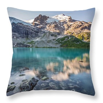 Mountain Lake Reflection Throw Pillow