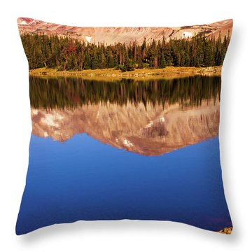 Throw Pillow featuring the photograph Mountain Lake Reflections by John De Bord