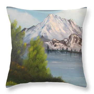 Mountain Lake Throw Pillow