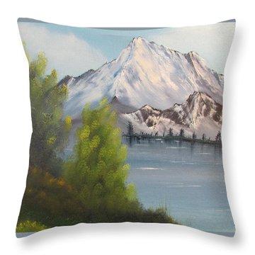 Mountain Lake Throw Pillow by Thomas Janos
