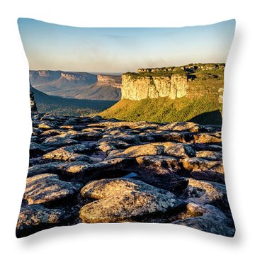 Mountain Landscape Throw Pillow by Lana Enderle