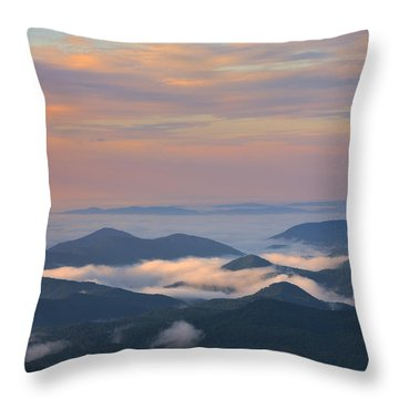 Throw Pillow featuring the photograph Mountain Layer Sunrise by Ken Barrett