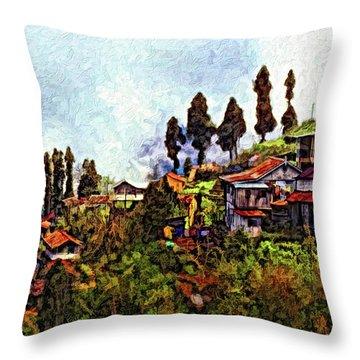 Mountain Living Impasto Throw Pillow by Steve Harrington