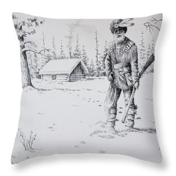 Mountain Man Throw Pillow by Kevin Heaney