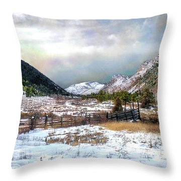 Mountain Meadow Throw Pillow by Jim Hill
