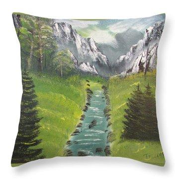 Mountain Meadow Throw Pillow by Thomas Janos