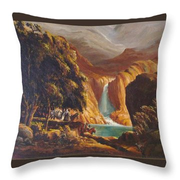 Mountain Men Throw Pillow