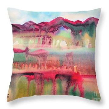 Mountain Mirage Throw Pillow by Teresa Ascone