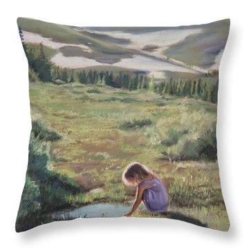 Mountain Mirror Throw Pillow