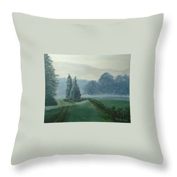 Mountain Mist Throw Pillow